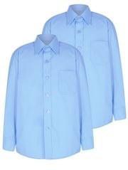 Рубашка на мальчика, подростка  цвет  голубой  6-7 лет