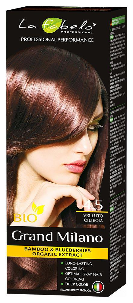 Крем-краска для волос La Fabelo Professional BIO 100 мл тон 4.5 (01490111001)