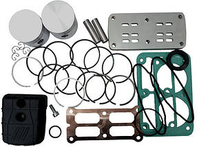Рем. комплект для компрессора AB500-912-380 (фильтр, клапанная плита, н-р прокладок, н-р поршней HP и LP, н-р