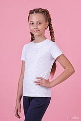 Блуза с коротким рукавом ТМ Зиронька 26-8054-1 белая