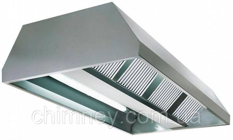 Зонт нержавеющий сварной пристенный 0.8 мм +Ф CHIMNEYBUD, 900x1700 мм