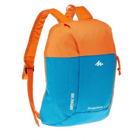 Рюкзак детский Quechua 7л. Цвет голубой с оранжевым.