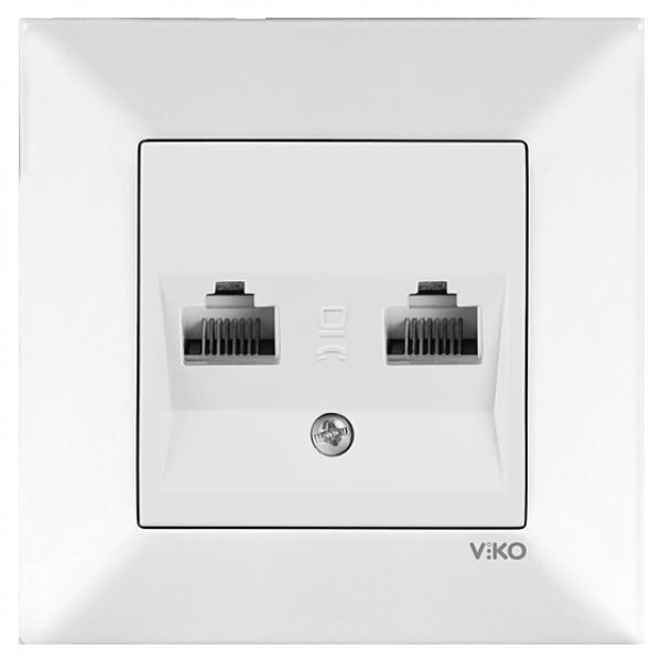 Розетка компьютерная двойная VIKO Meridian Белый (90970134). 96 грн. Купить 552d4a7d54c
