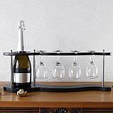 Набор для вина на 4 рюмки-Волна, фото 2