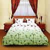 Комплект постельного белья ТЕП семейное Маки зеленые