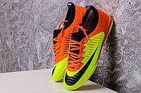 Футбольные сороконожки Nike Mercurial X TF Volt/Orange/Black, фото 1