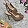 Босоножки женские бежевые из натуральной кожи на высоком каблуке шпилька и платформе, фото 4
