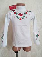 Детская блуза, гольфик для девочки, с вышивкой