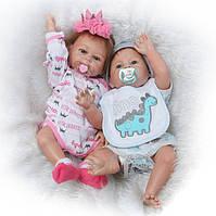 Куклы реборн с виниловым телом.