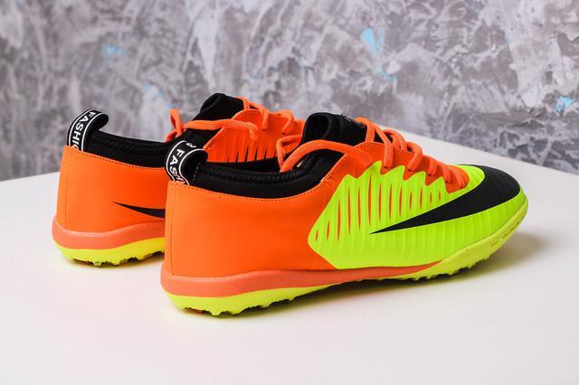 Футбольные сороконожки Nike Mercurial X TF Volt/Orange/Black