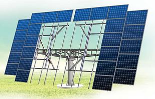Солнечный трекер двухосный ESTAR Tech 46-12 кВт(система слежения за солнцем)