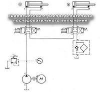 Гидросистема с распределителями последовательного включения