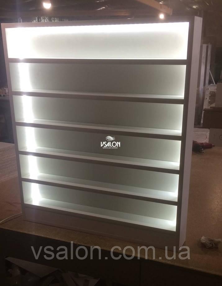 Полочка для гель лаков с подсветкой навесная V265
