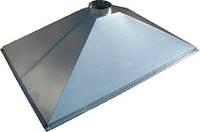 Зонт приточно-вытяжной пристенный нержавеющий 0.8 мм без жироуловителей CHIMNEYBUD, 1400x900 мм