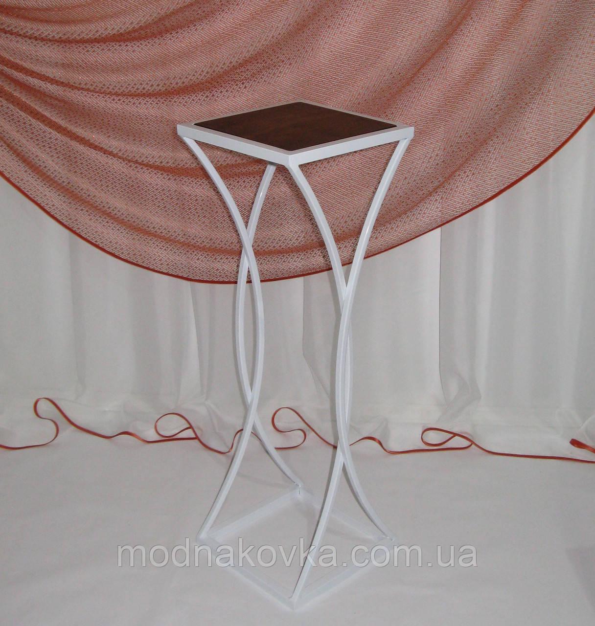 Стол-консоль кованый №4 малый белый, фото 1