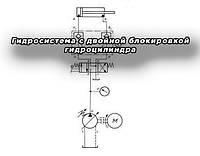 Гидросистема с двойной блокировкой гидроцилиндра