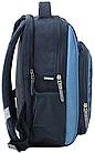 Рюкзак школьный с гоночной машиной синий, фото 2