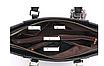 Сумка женская классическая трапеция с помпоном Черный, фото 6