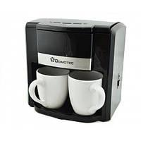 Капельная кофеварка Domotec MS 0708 с двумя фарфоровыми чашками в комплекте