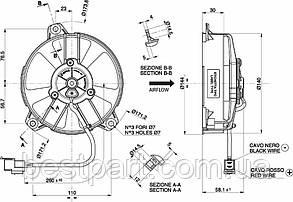 Вентилятор Spal 12V, витяжною, VA31-A101-46A