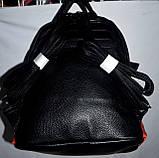Женский маленький блестяший рюкзак из искусственной кожи с крыльями 23*26 см (золото), фото 3