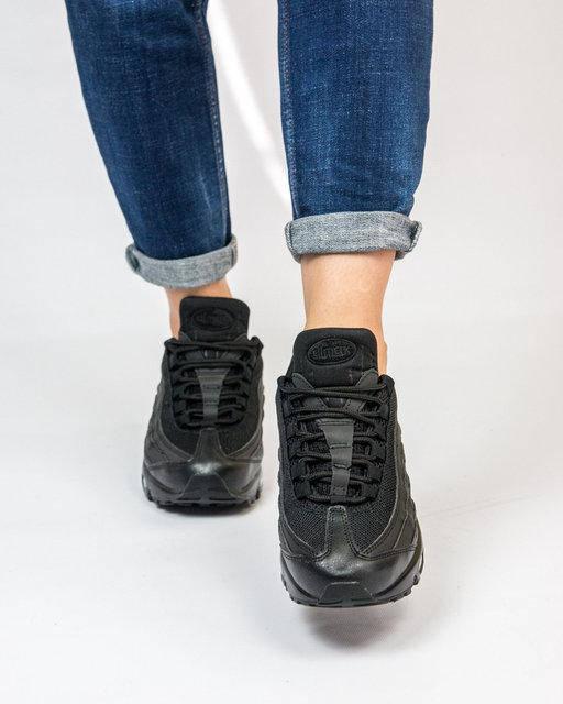 """Женские кроссовки Nike Air Max 95 """"Black"""" (в стиле Найк Аир Макс), фото 4"""