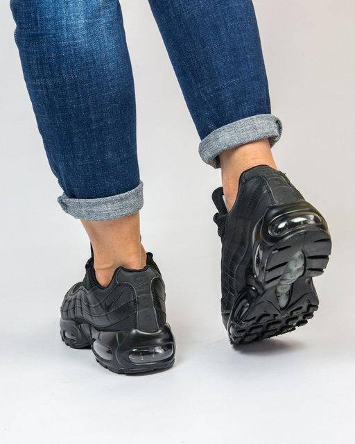 """Женские кроссовки Nike Air Max 95 """"Black"""" (в стиле Найк Аир Макс), фото 5"""