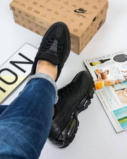 """Женские кроссовки Nike Air Max 95 """"Black"""" (в стиле Найк Аир Макс), фото 3"""