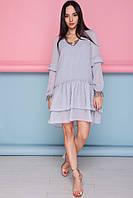 Платье Элиса М565, (6цв), свободное платье, платье шифоновое, дропшиппинг, фото 1