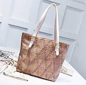 Солом'яний прямокутна плетена сумка ромб різнобарвний