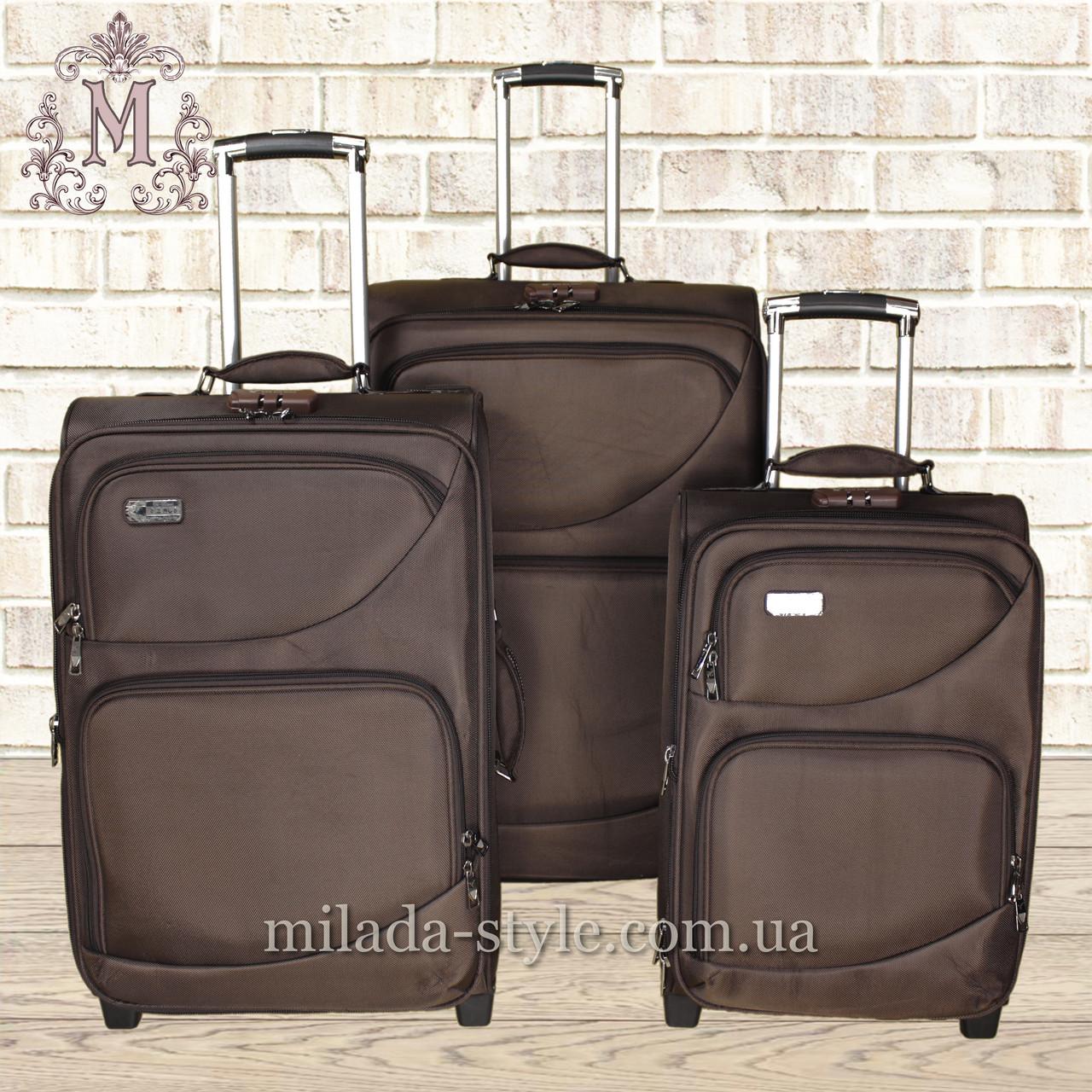 Комплект чемоданов 2-х колесных (коричневый)