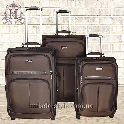 Комплект чемоданов 2-х колесных (коричневый), фото 2