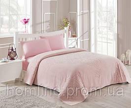 Набор постельного белья TAC сатин + махровая простынь Dama a.gul kurusu евро