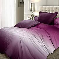 Вишневый сорбет, однотонное постельное белье омбре из сатина