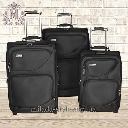 Комплект чемоданов 2-х колесных (черный), фото 2