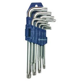 Набір ключів TORX з отвором Г-образних 9ед. СТАНДАРТ TKS0901
