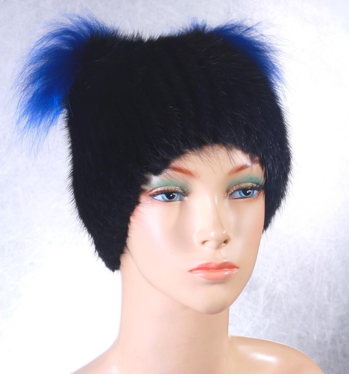 Жіноча хутрова шапка Кішка з ондатри
