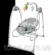 Дитячі гойдалки - шезлонг CARRELLO MOLLE CRL-10301 сірий і бежевий