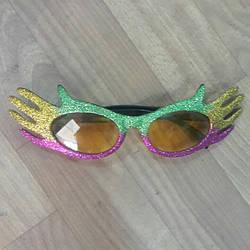 Очки карнавальные металлик.