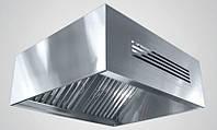 Зонт приточно-вытяжной пристенный нержавеющий сварной 0.8 мм +Ф CHIMNEYBUD, 2400x600 мм