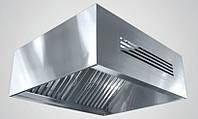 Зонт приточно-вытяжной пристенный нержавеющий сварной 0.8 мм +Ф CHIMNEYBUD, 700x1800 мм