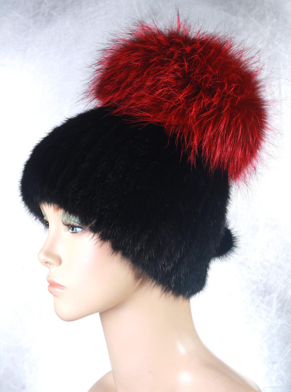 Женская меховая шапка Фонарик из ондатры