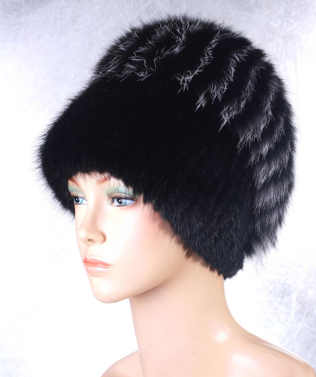 Женская меховая шапка Версаль из ондатры