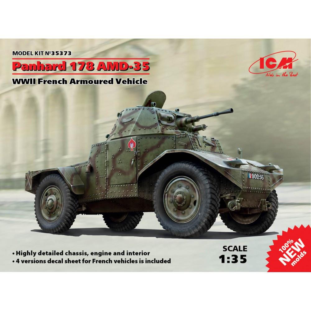 Французский бронеавтомобиль ІІ МВ Panhard 178 AMD-35. 1/35 ICM 35373