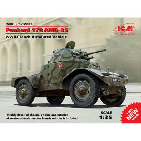 Французский бронеавтомобиль ІІ МВ Panhard 178 AMD-35. 1/35 ICM 35373, фото 2