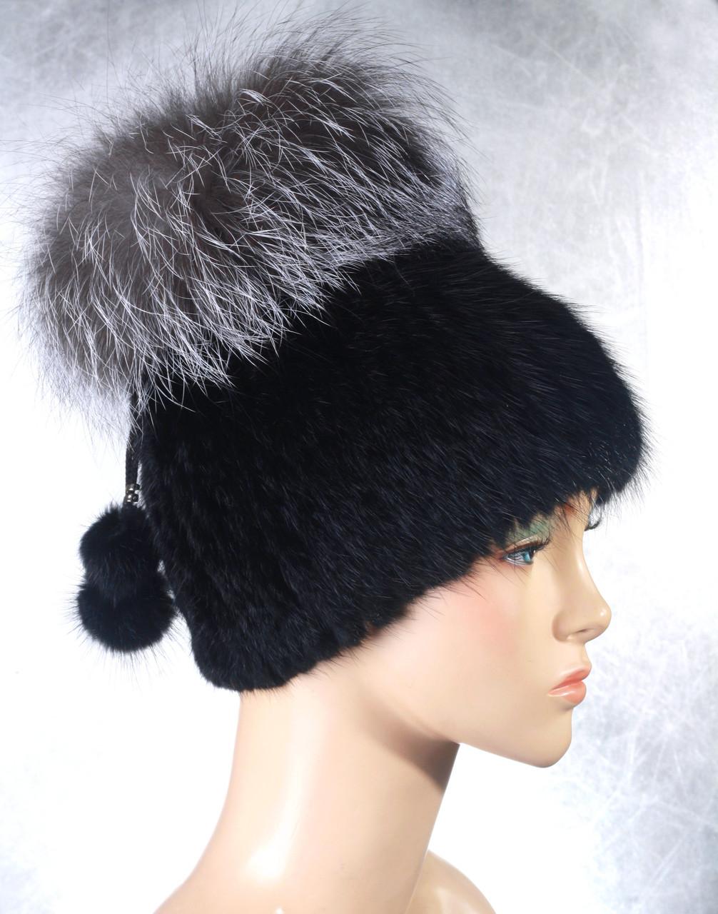 Женская меховая шапка Фонарик-Гамма из ондатры