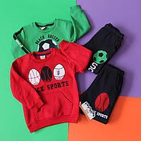 Детские костюмы теплые два предмета батник и штаны размер 3,5,6 лет