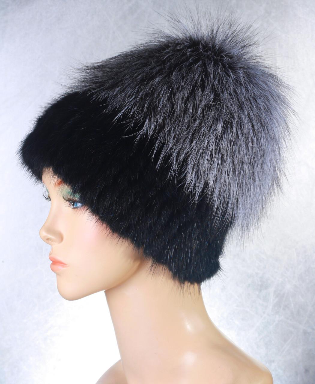 Женская меховая шапка Эдельвейс из ондатры