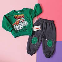 Зеленый детский костюм спортивный два предмета размер 92 см