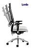 Кресло офисное руководителя c высокой спинкой Enrandnepr LORDO DAUPHIN Черный, фото 3